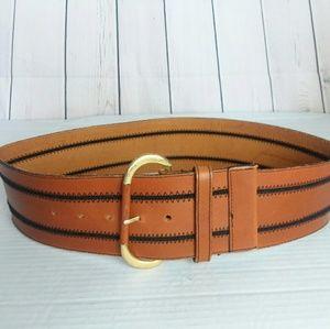 [VINTAGE] CHRISTIAN DIOR leather stitch belt